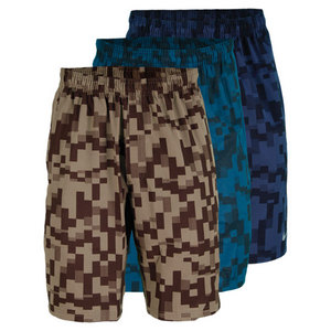 NIKE MENS 10 IN PRINTED STRETCH WOVEN SHORT