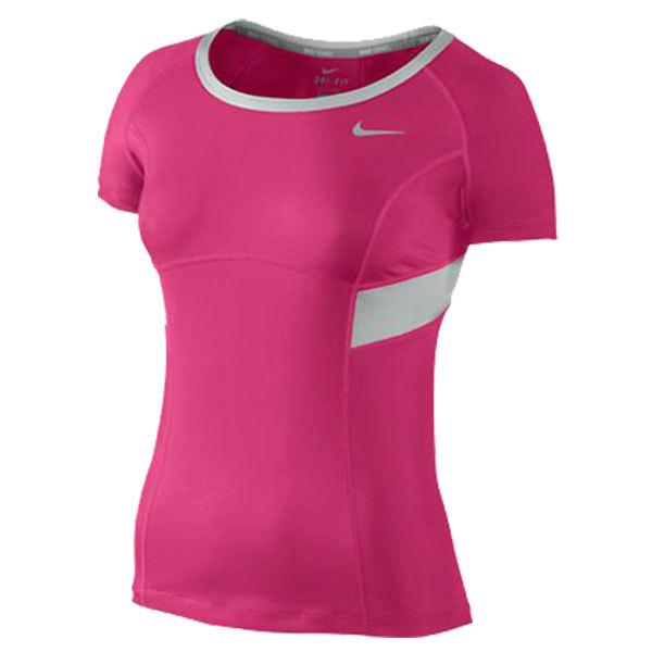 Women's Power Short Sleeve Tennis Top Pink Force