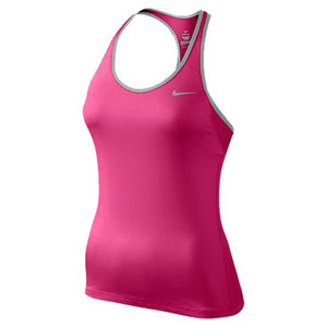NIKE WOMENS KNIT TENNIS TANK PINK FORCE