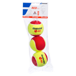 BABOLAT PLAY AND STAY RED FELT 3 PACK BALLS