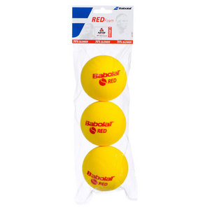 BABOLAT PLAY AND STAY RED FOAM 3 PACK BALLS