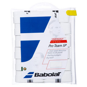 BABOLAT PRO TEAM SP TENNIS OVERGRIPS 12 PK WHITE
