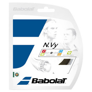 BABOLAT N.VY 17G TENNIS STRING BLACK