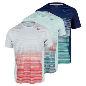 NIKE MENS ADVANTAGE UV STRIPE TENNIS CREW