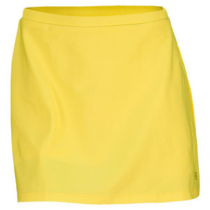 ELIZA AUDLEY WOMENS A-LINE TENNIS SKORT YELLOW