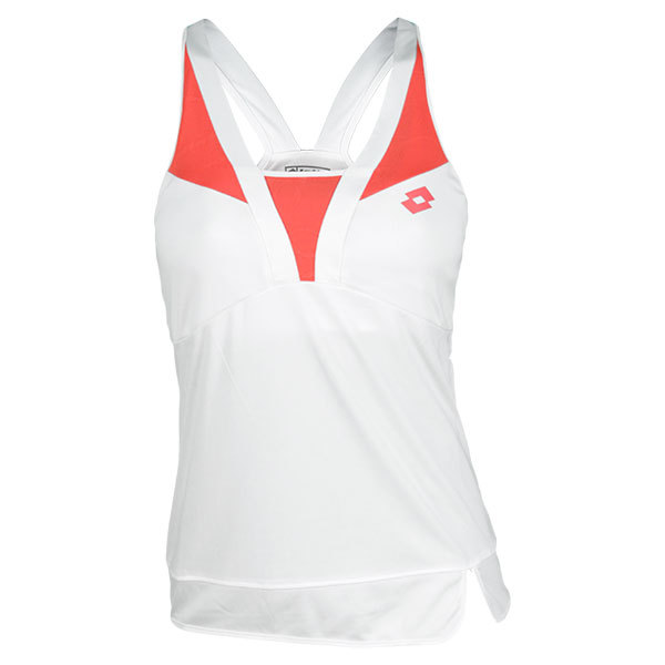Women's Natty Tennis Tank White/Rose