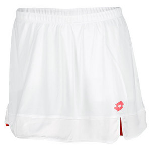 LOTTO WOMENS NATTY TENNIS SKORT WHITE/ROSE