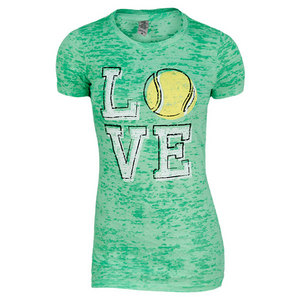 LOVEALL WOMEN`S TENNIS LOVE ACID WASH TEE