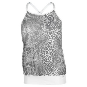 SOFIBELLA WOMENS FREEDOM TO FEEL CAMI SILVER PRINT