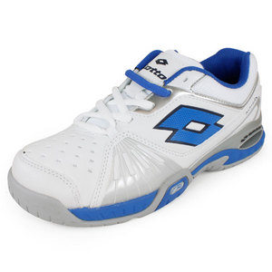 LOTTO JUNIORS RAPTOR ULTRA IV SHOES WHITE/BLUE