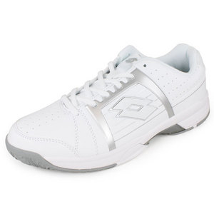 LOTTO WOMENS T-TOUR 600 SHOES WHITE/SILVER