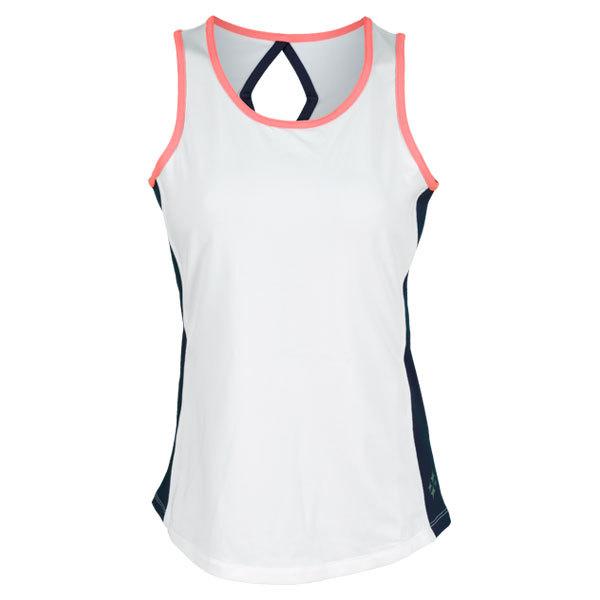 Women's Calypso Tennis Tank White