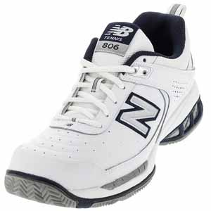 NEW BALANCE MENS MC806 B WIDTH TENNIS SHOES WHITE