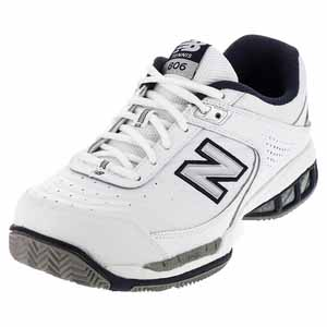 NEW BALANCE MENS MC806 D WIDTH TENNIS SHOES WHITE