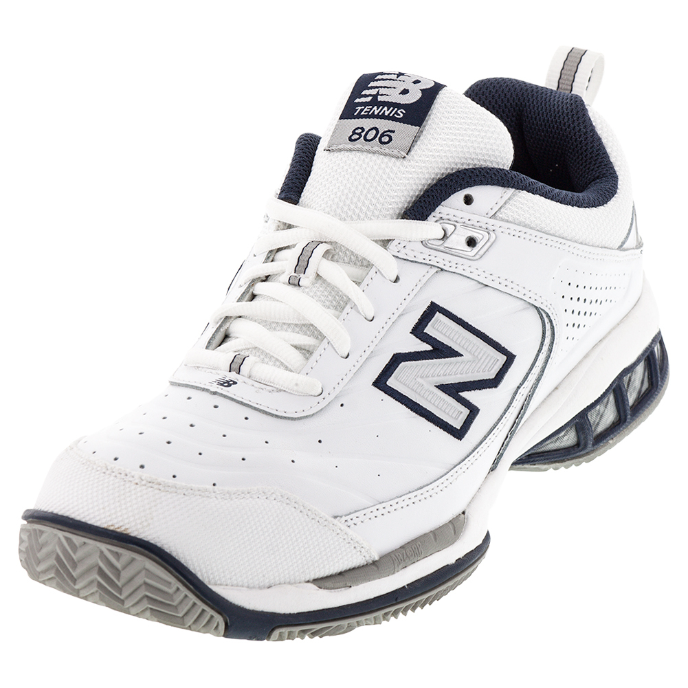 new balance mens mc806 2e width tennis shoes white