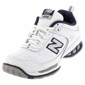 NEW BALANCE MENS MC806 2E WIDTH TENNIS SHOES WHITE