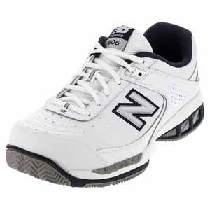 NEW BALANCE MENS MC806 4E WIDTH TENNIS SHOES WHITE