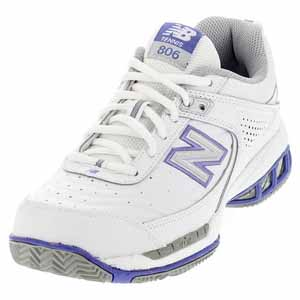 NEW BALANCE WOMENS WC806 B WIDTH SHOES WHITE