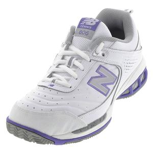 NEW BALANCE WOMENS WC806 2E WIDTH SHOES WHITE