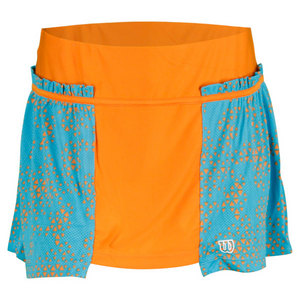 WILSON WOMENS UP A SET TENNIS SKORT ORANGE