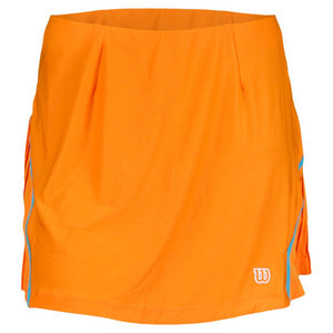 WILSON WOMENS TOTAL CONTROL TENNIS SKORT ORANGE