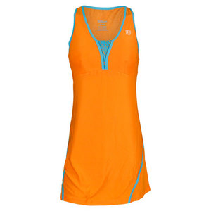 WILSON WOMENS UP A SET TENNIS DRESS ORANGE