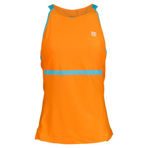 WILSON WOMENS UP A SET TENNIS TANK TUSCAN ORANG