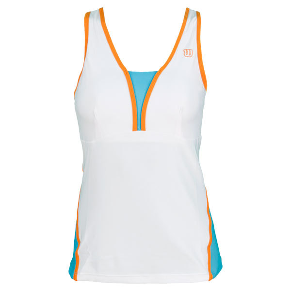 Women's Total Control Tennis Tank White/Oceana