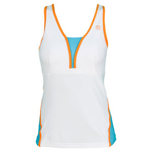 WILSON WOMENS TOTAL CONTROL TENNIS TANK WHITE