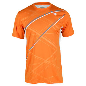 WILSON MENS WIN BIG TENNIS CREW INTENSE ORANGE