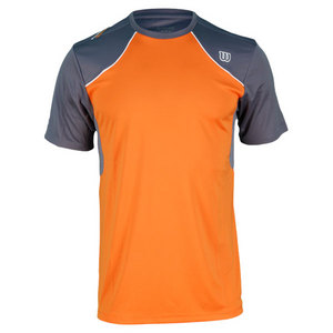 WILSON MENS WELL EQUIPPED TENNIS CREW ORANGE