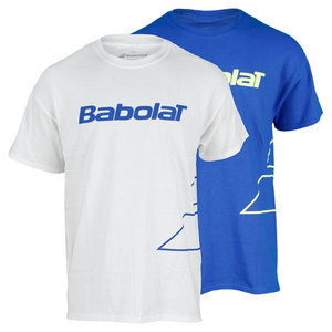 BABOLAT MENS LOGO OUTLINE SHORT SLEEVE TEE