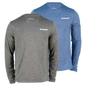 BABOLAT MENS LOGO POLY LONG SLEEVE TENNIS TEE