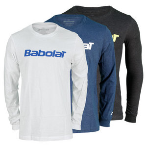 BABOLAT MENS LOGO LONG SLEEVE CREW TENNIS TEE