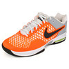 NIKE Men`s Air Max Cage Tennis Shoes White and Orange
