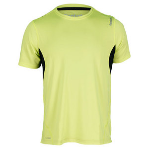 REEBOK MENS SE RUNNING TOP SOLAR GREEN/BLACK