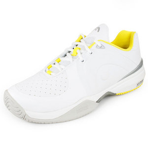 HEAD WOMENS MOTION PRO SHOES WHITE/YELLOW