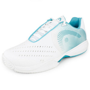 HEAD WOMENS INSTINCT II TEAM SHOES WHITE/BLUE