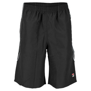 FILA MENS CROSS COURT TENNIS SHORT BLACK
