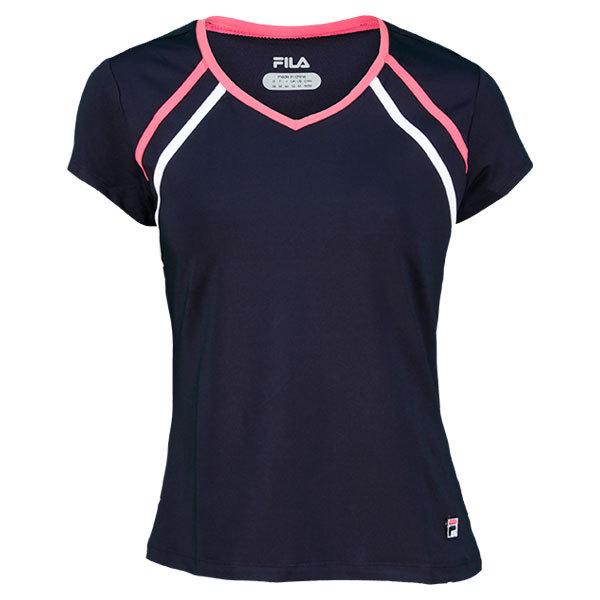 Women's Baseline Cap Sleeve Tennis Top Peacoat