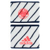 Roland Garros Small Tennis Wristband White and Navy by ADIDAS