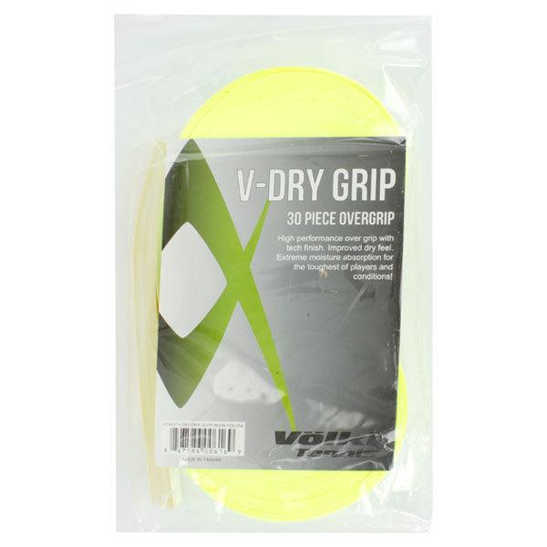 V Dry 30 Pack Tennis Overgrip Neon Yellow