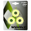 VOLKL V Dry 3 Pack Tennis Overgrip Neon Yellow