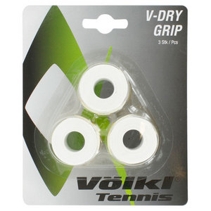 VOLKL V DRY 3 PACK TENNIS OVERGRIP WHITE