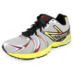 NEW BALANCE MENS 870 D WIDTH RUNNING SHOES SILVER/YL