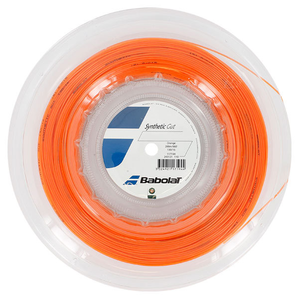 Synthetic Gut 16g Tennis String Reel Orange