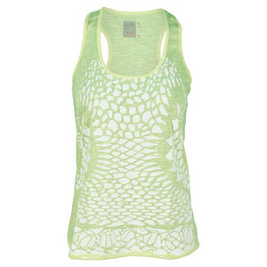 LUCKY IN LOVE WOMENS TENNIS CROCHET TANK YELLOW
