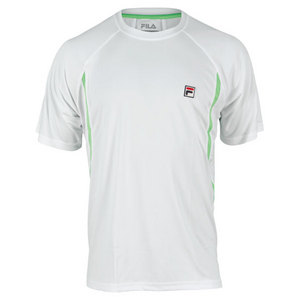 FILA MENS ALLEY COLORBLOCKED TENNIS CREW WHT/