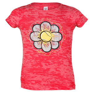 LOVEALL JR. TENNIS FLOWER POWER ACID WASH TEE