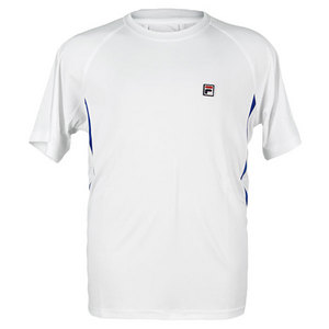 FILA BOYS GAME TENNIS CREW WHITE/BLUE